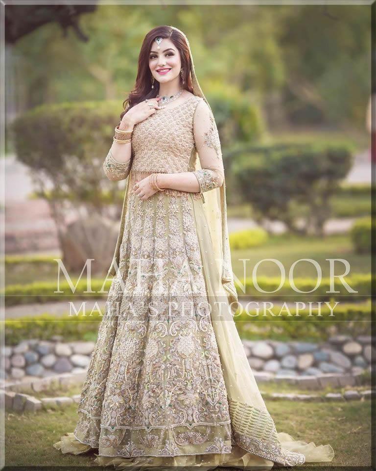 A-line bridal dress with beautiful dupatta