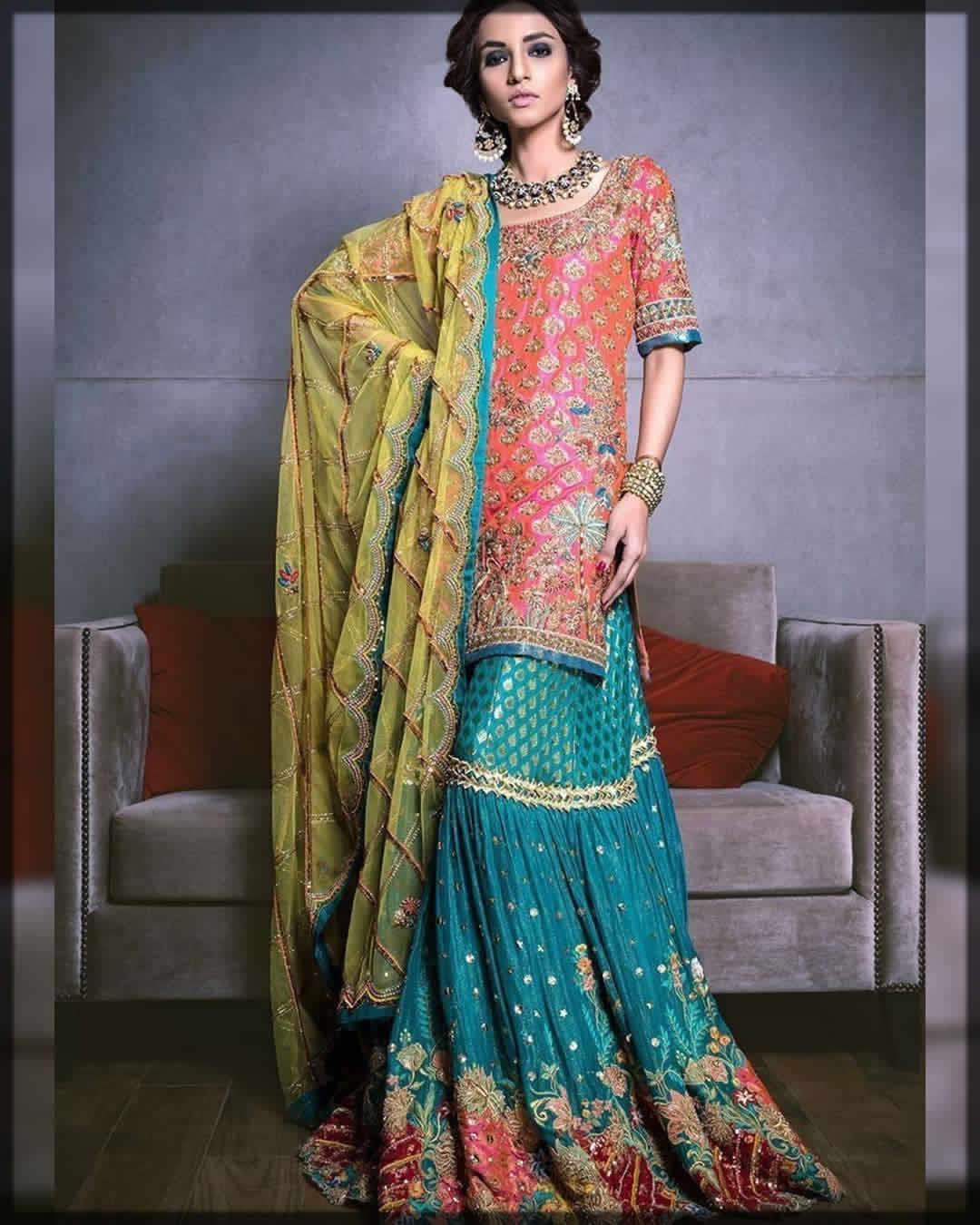 Amazing Color Combination Of Mehndi Dresses