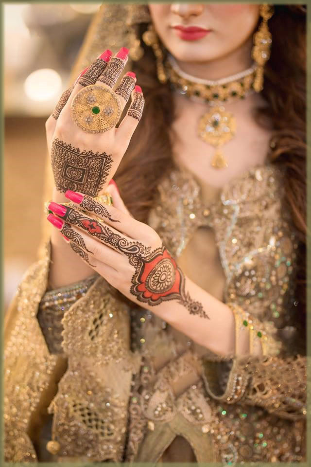 classic tikki design for a bride
