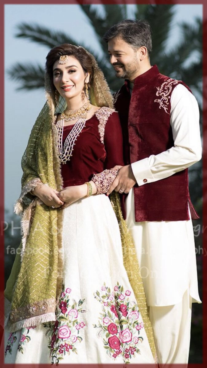 ayesha khan mehndi dress