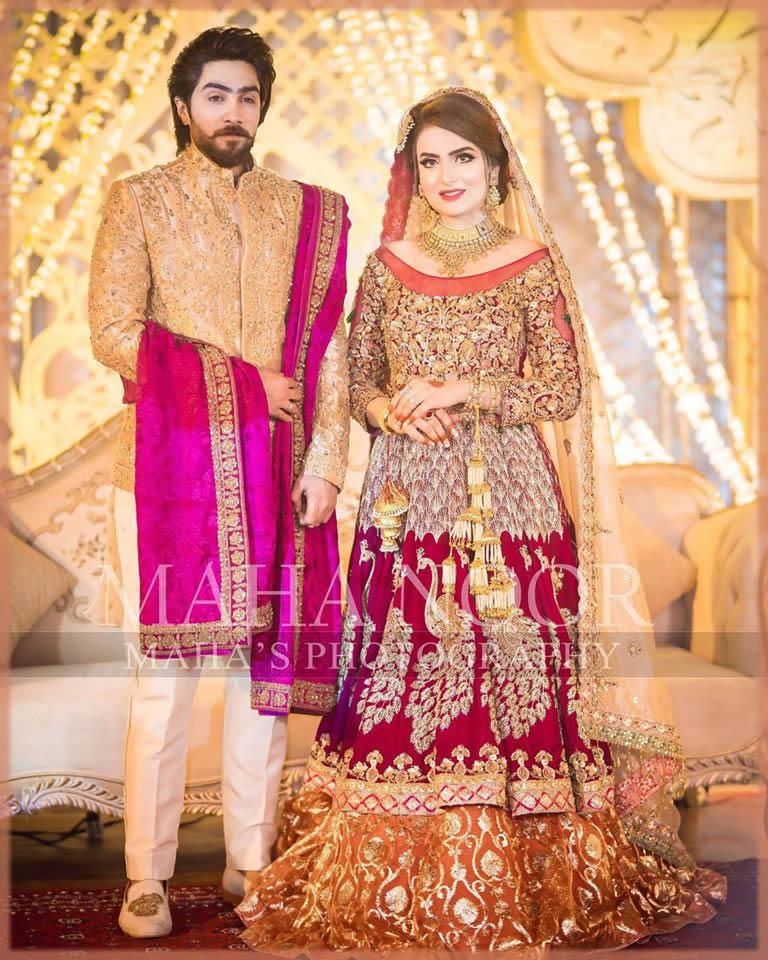 Elegant Velvet Latest Pakistani Bridal Dress
