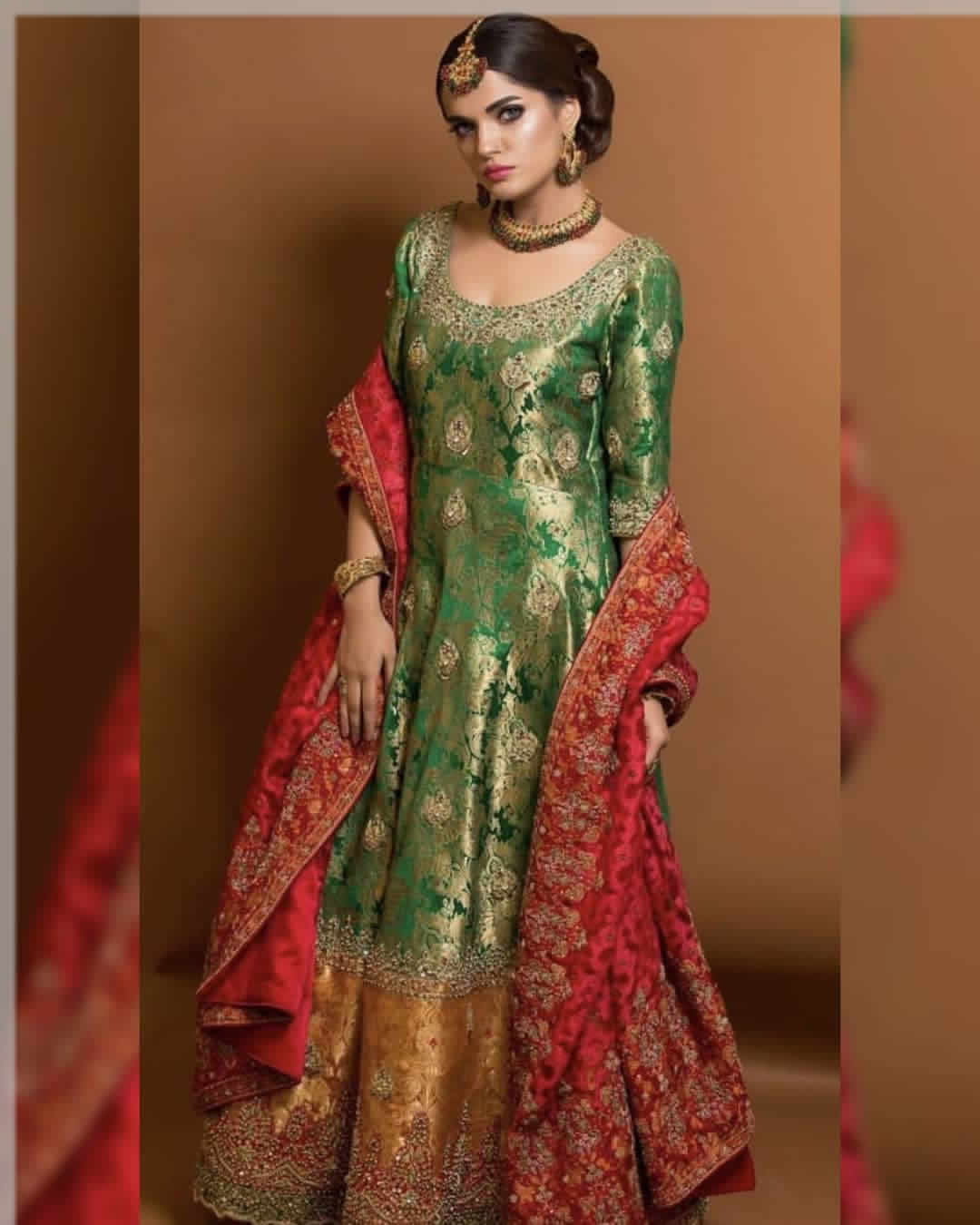 Excellet Color Combination Of Mehndi Dress