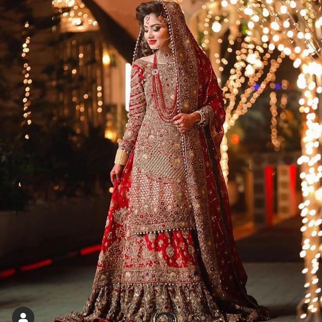 Latest Pakistani Bridal Dresses in red