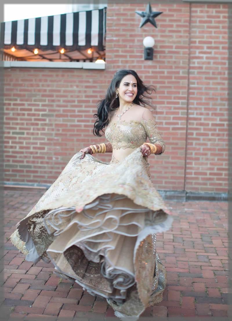 Multi layer Mehndi dress