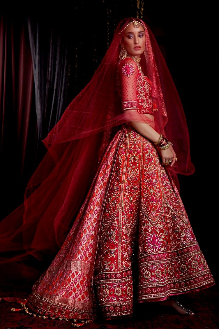 red Indian bridal dresses collection