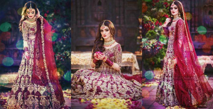 Red bridal lehenga photoshoot