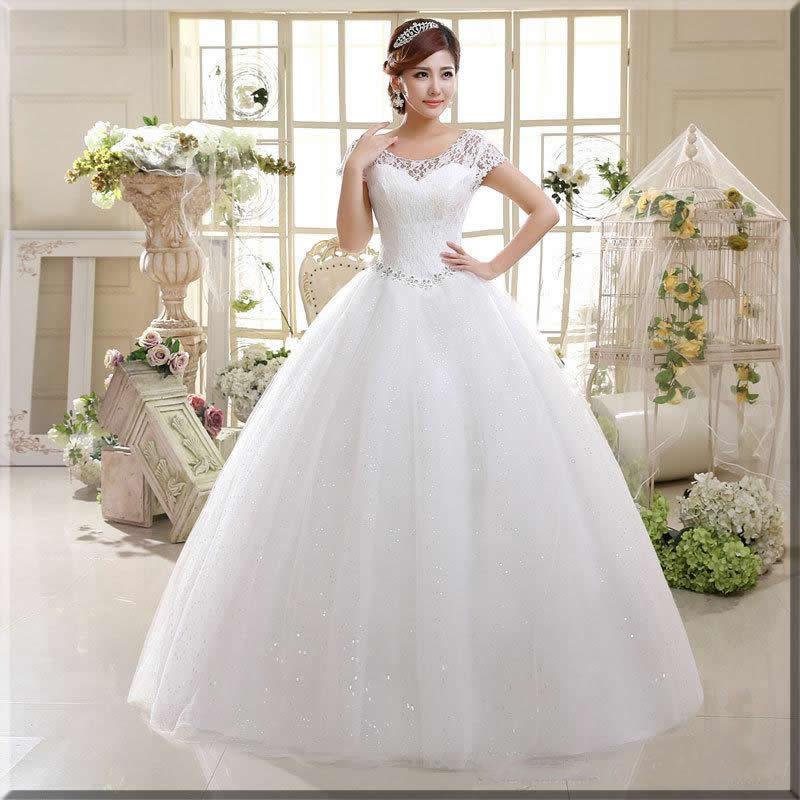 ankara bridal dress in white