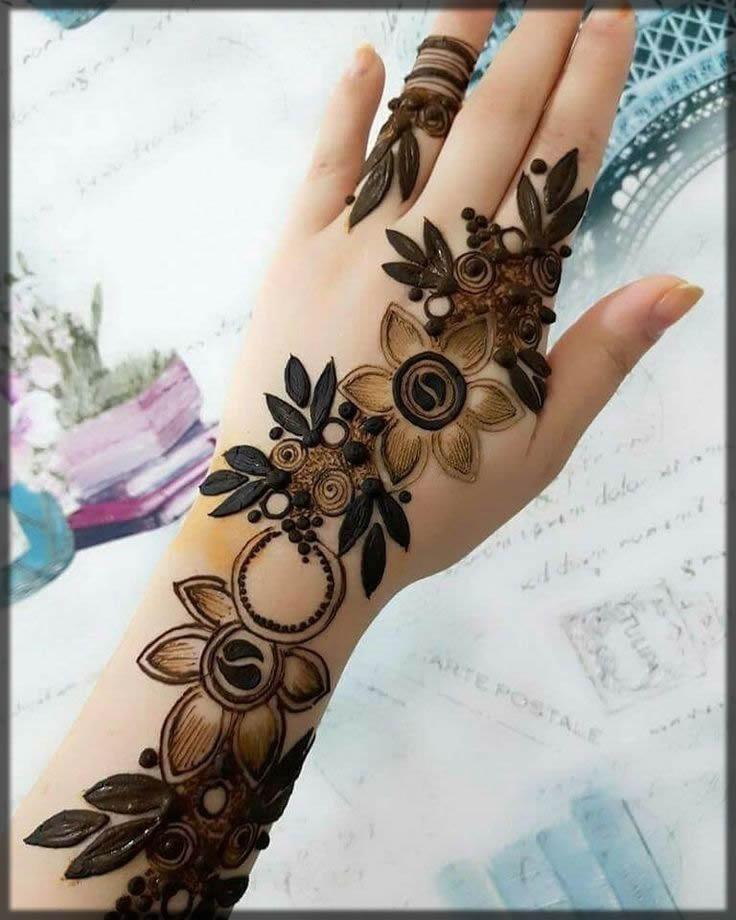 latest arabic mehndi design for teenagers
