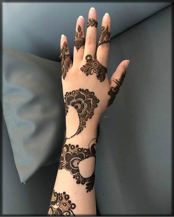 arabic mehndi for bride for wedding