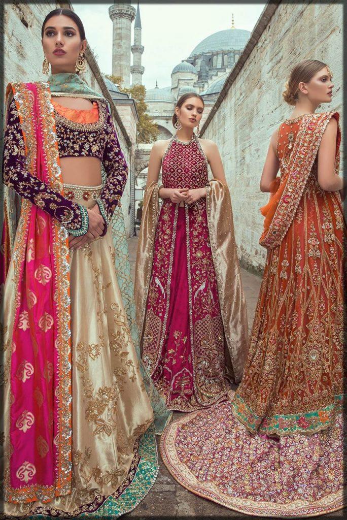 sana latest collection for bridal barat dresses