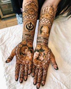 bride groom wedding mehndi designs