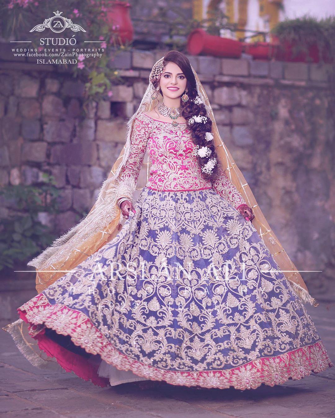 unique bridal mehndi dresses