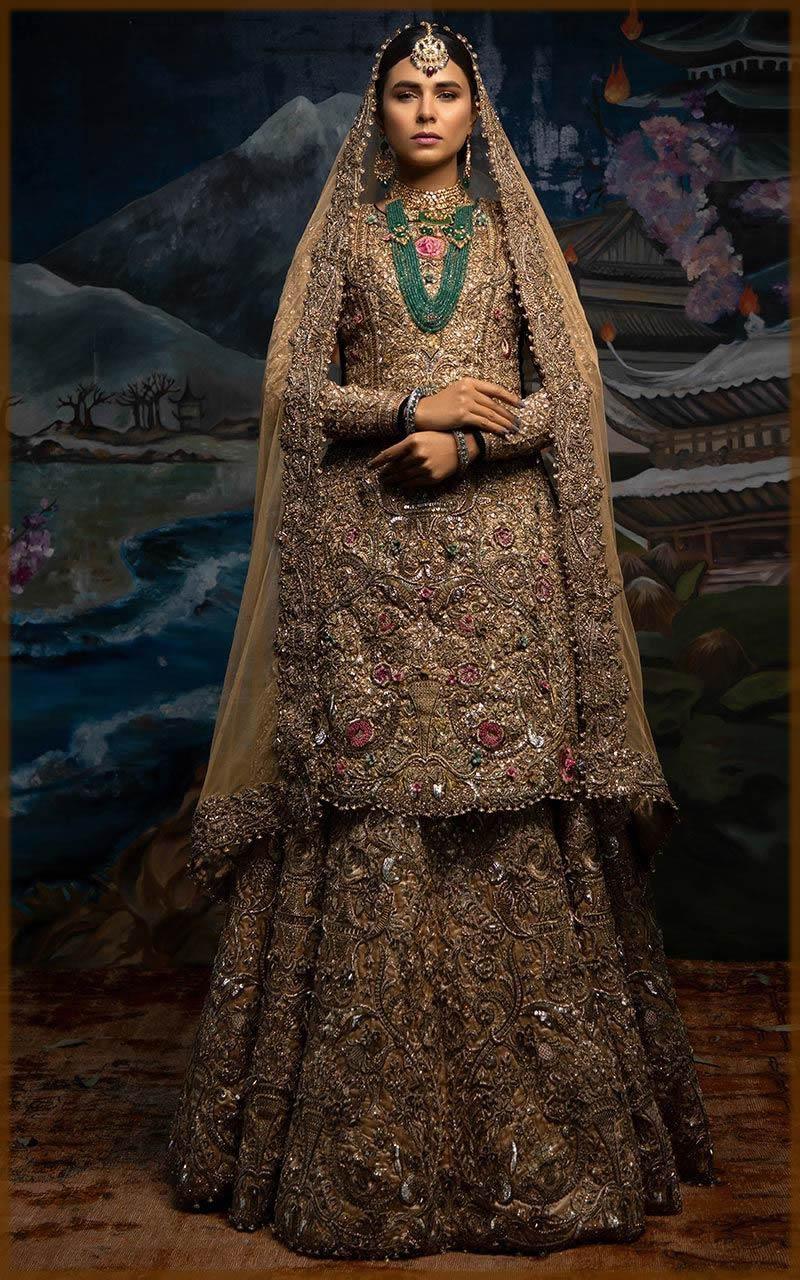 elegent bridal dress by fahad hussayn