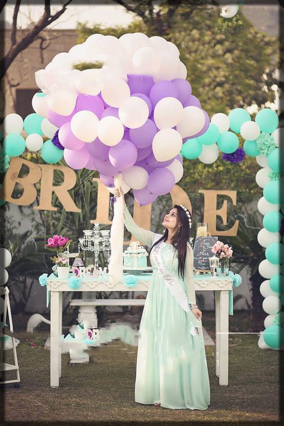 green gown dress for bridal shower