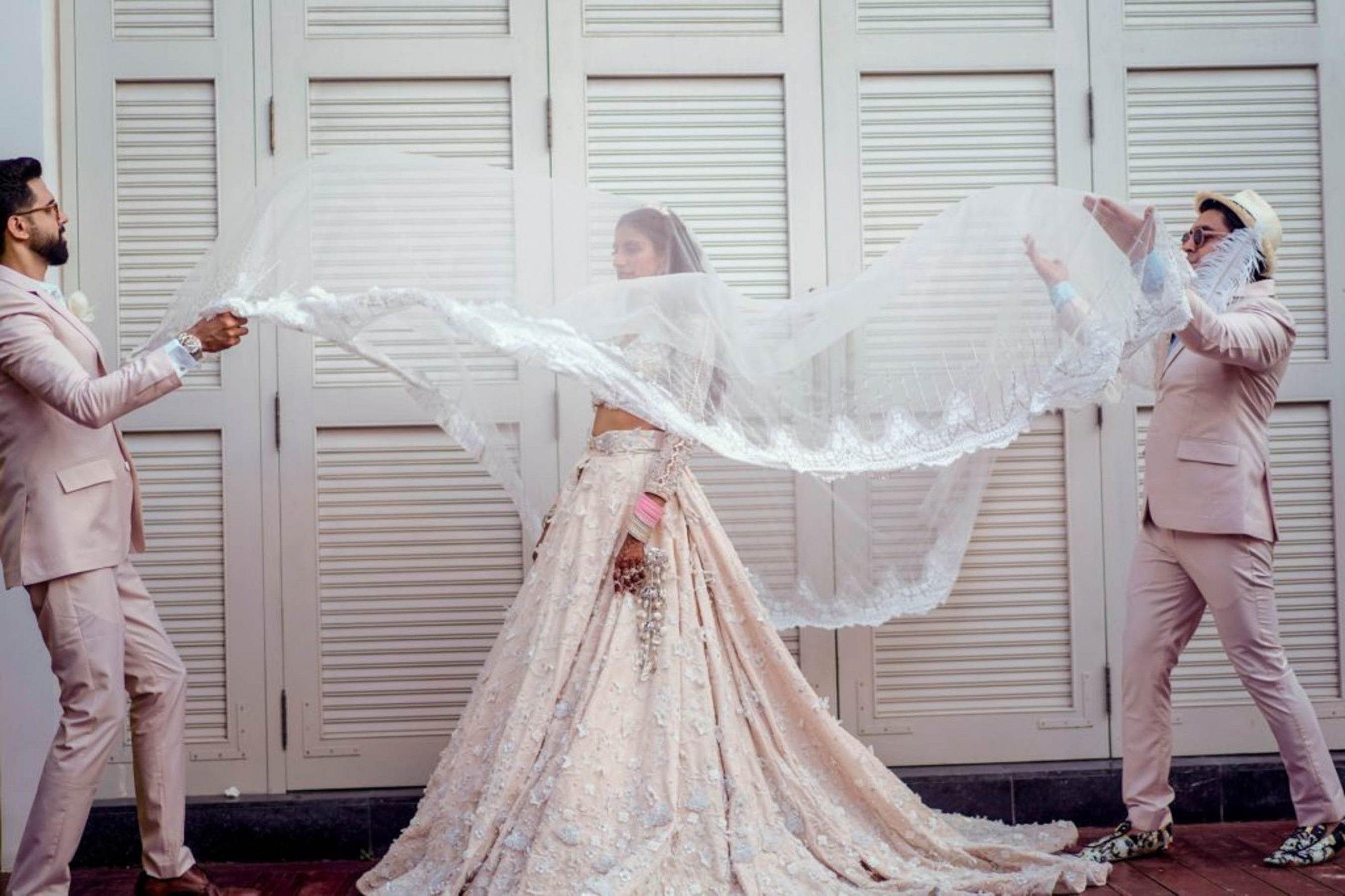 long flared lehenga for indian brides