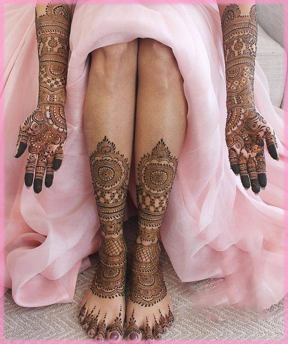 legs and feet wedding mehndi designs