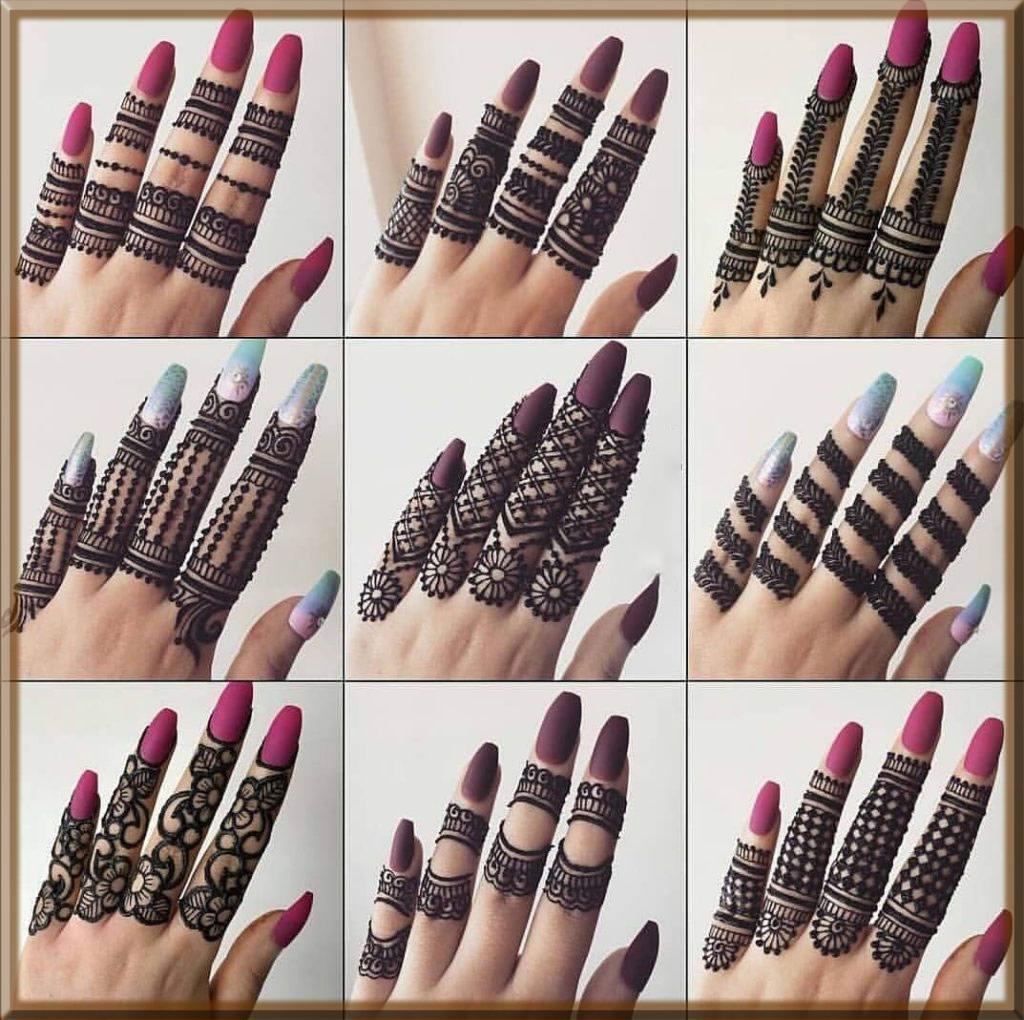 latest finger mehndi designs for girls