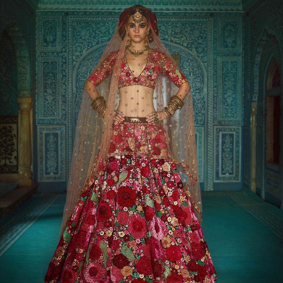 floral indian dress collection for wedding
