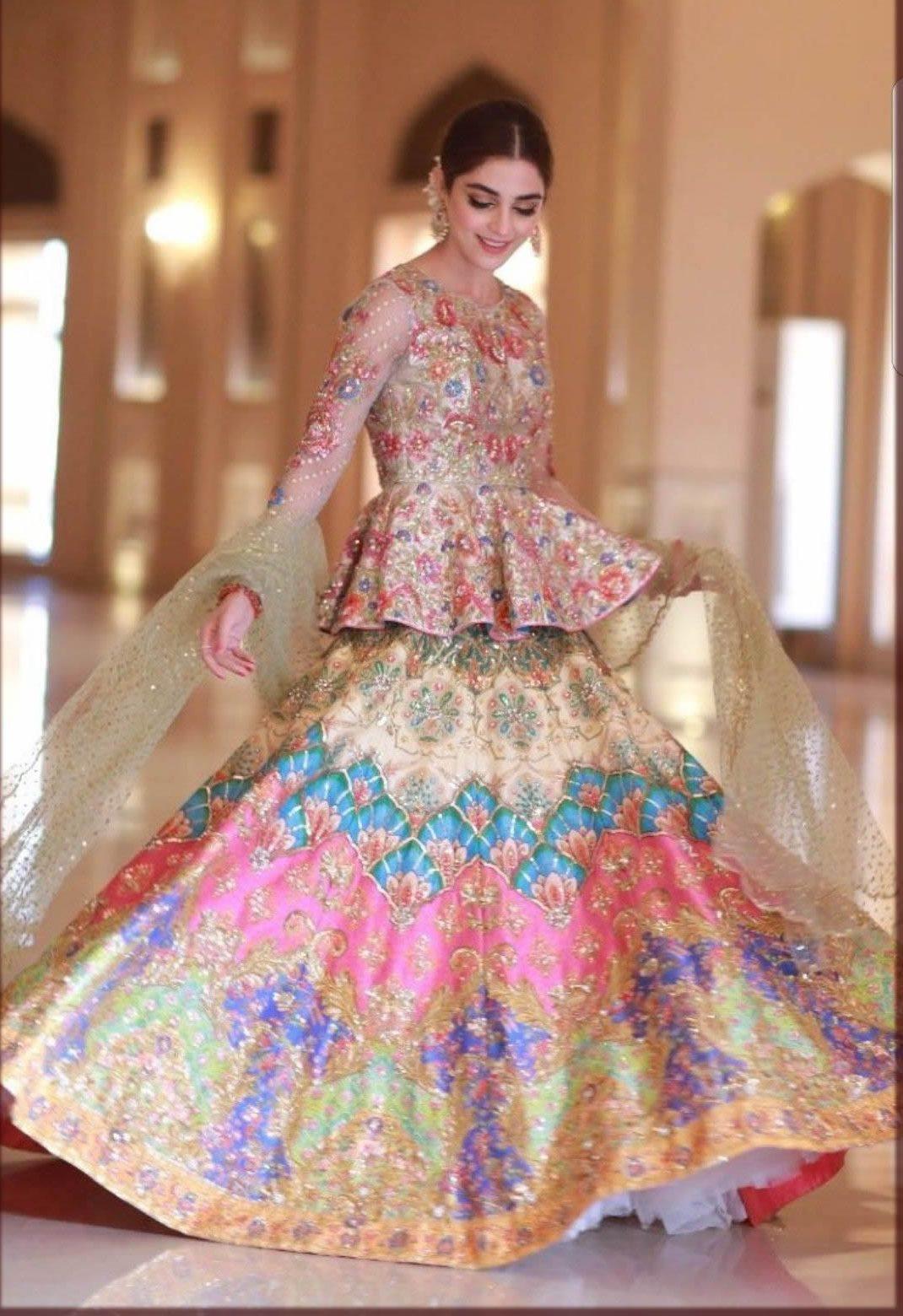 maya ali wearing nomi ansari dress