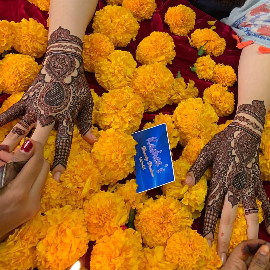 kashee's mehndi design for a bride