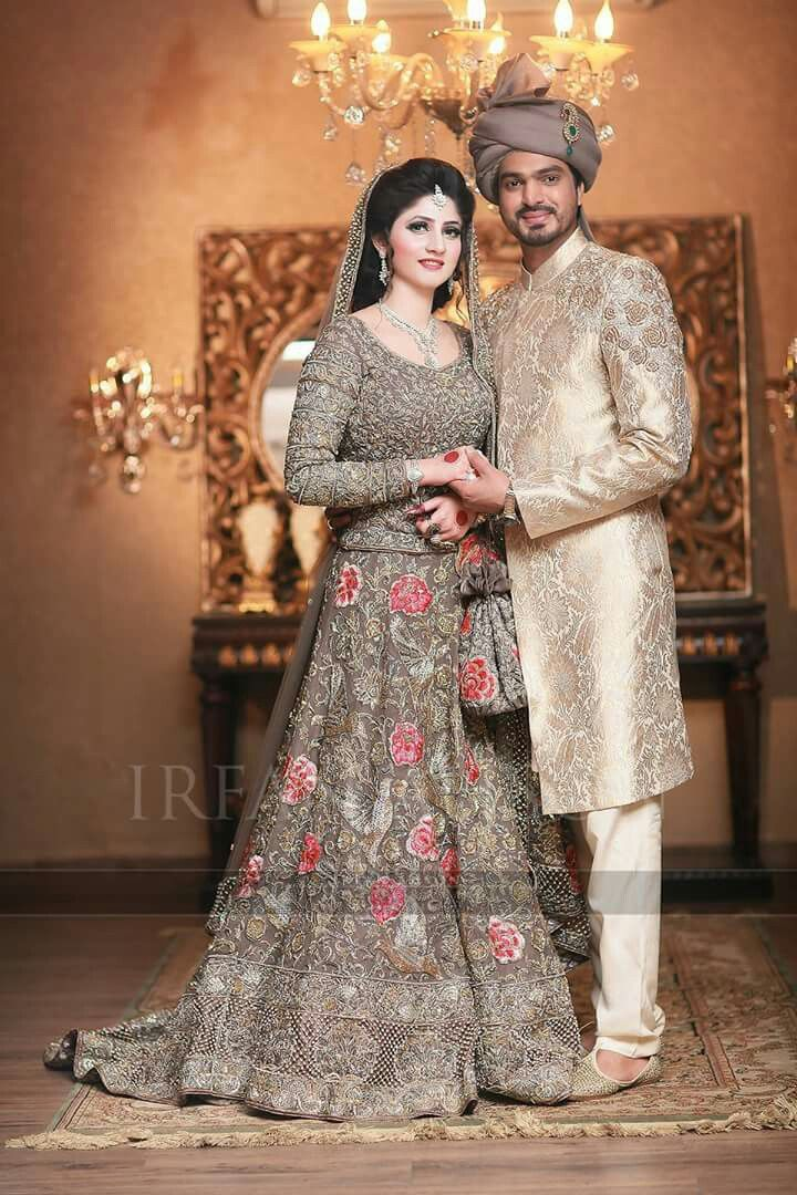 grey indian bridal lehenga choli