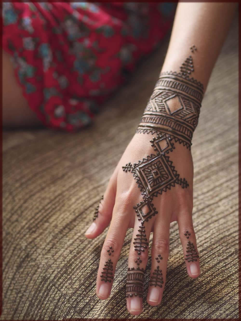 moroccan mehndi style for bride