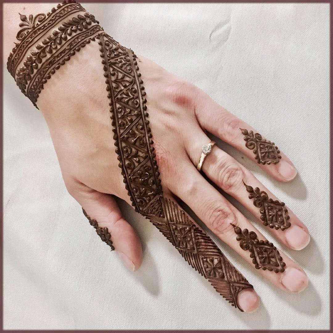latest moroccan mehndi style for bride