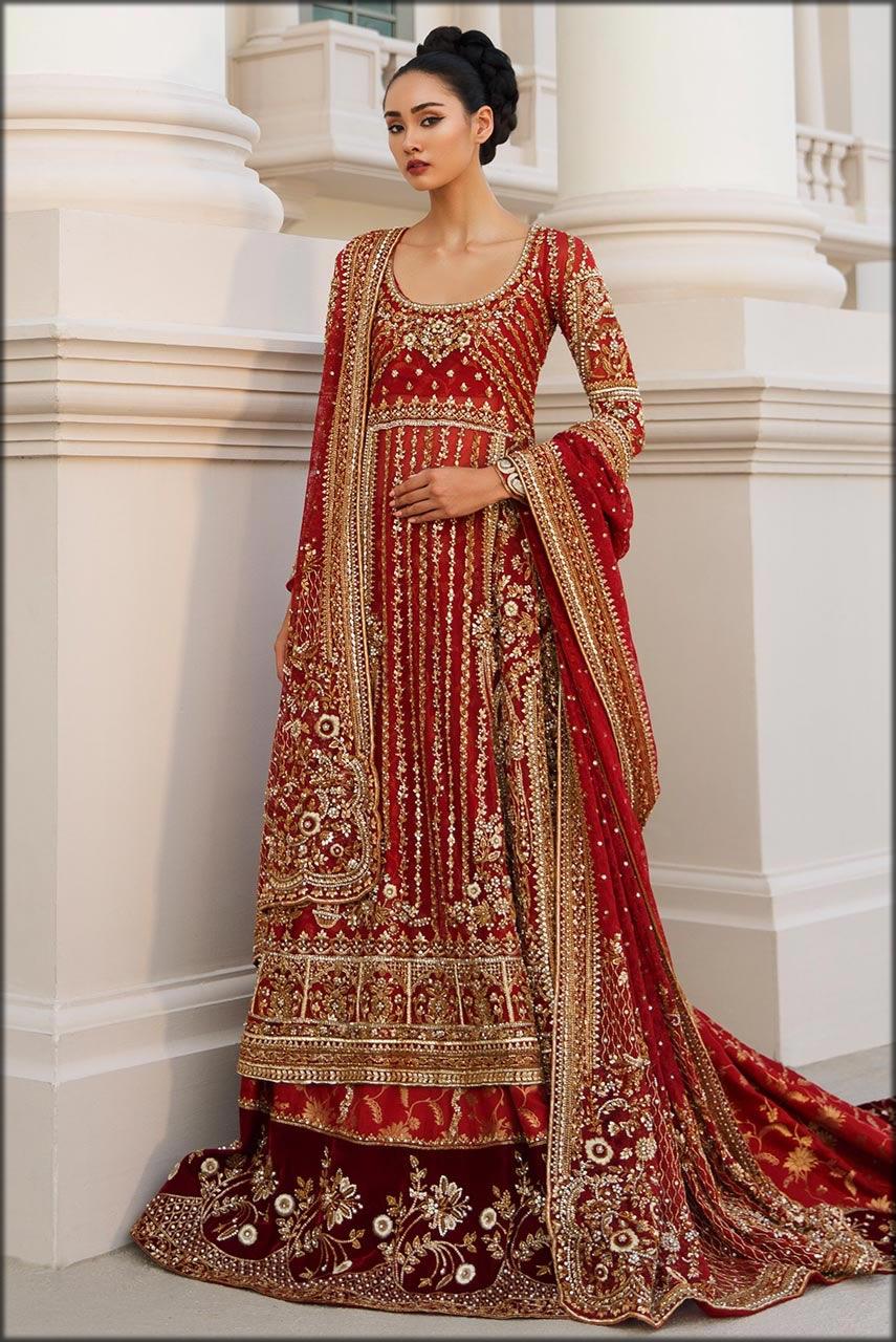 maxi with lehenga bridal barat dresses