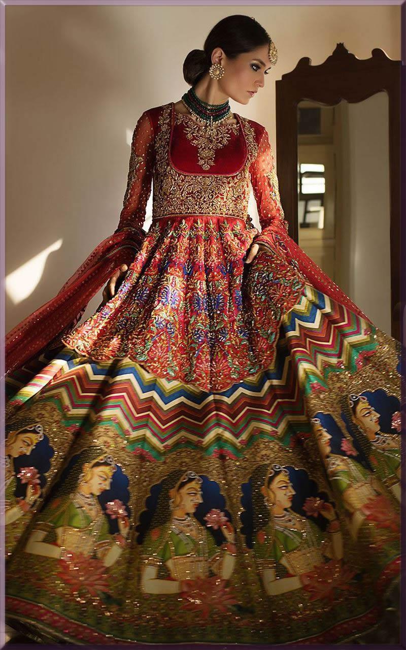 mughal e azam bridal collection by nomi ansari