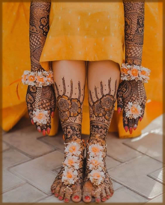 wedding mehndi designs for bride