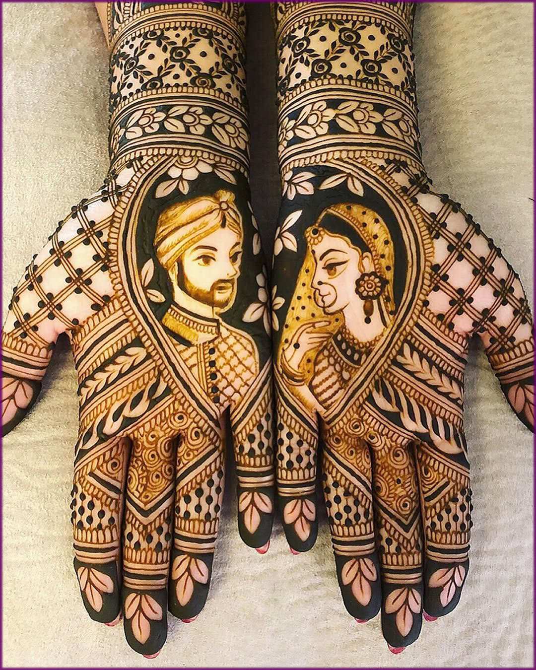 wedding mehndi design raja rani