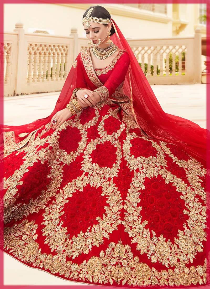 tradtional red bridal barat dresses
