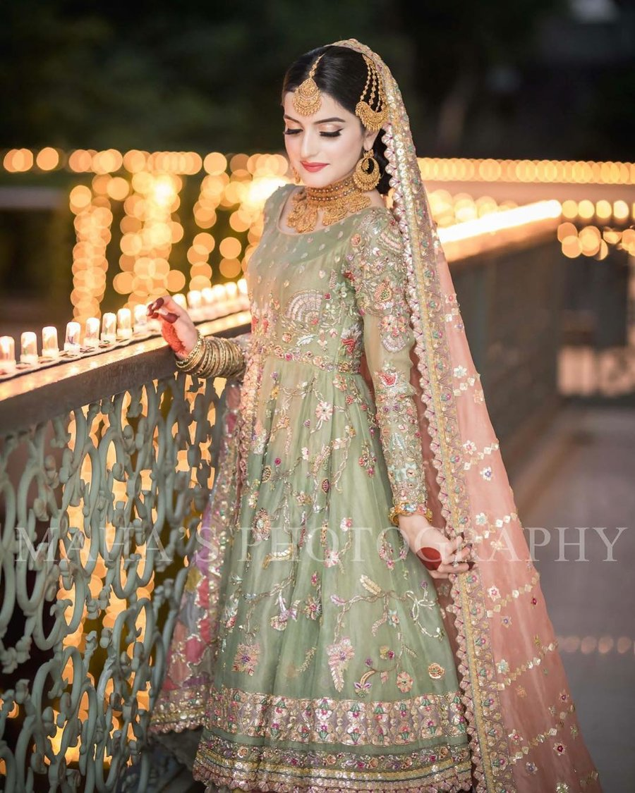 long frock style indian bridal dresses
