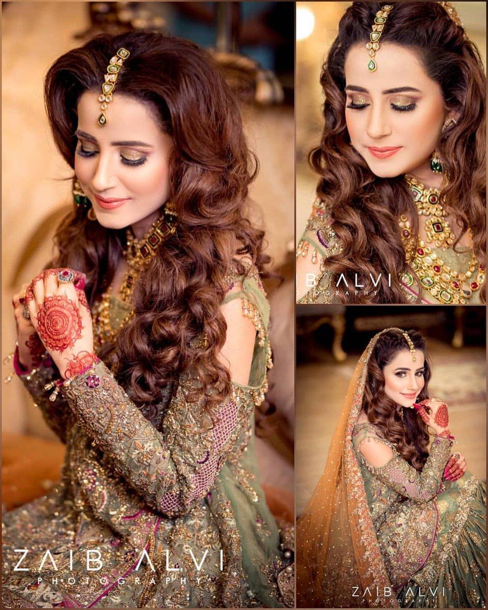 off shoulder bridal mehndi dress
