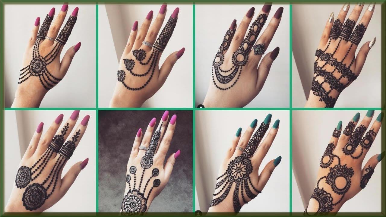 simple and elegent mehndi design for bride