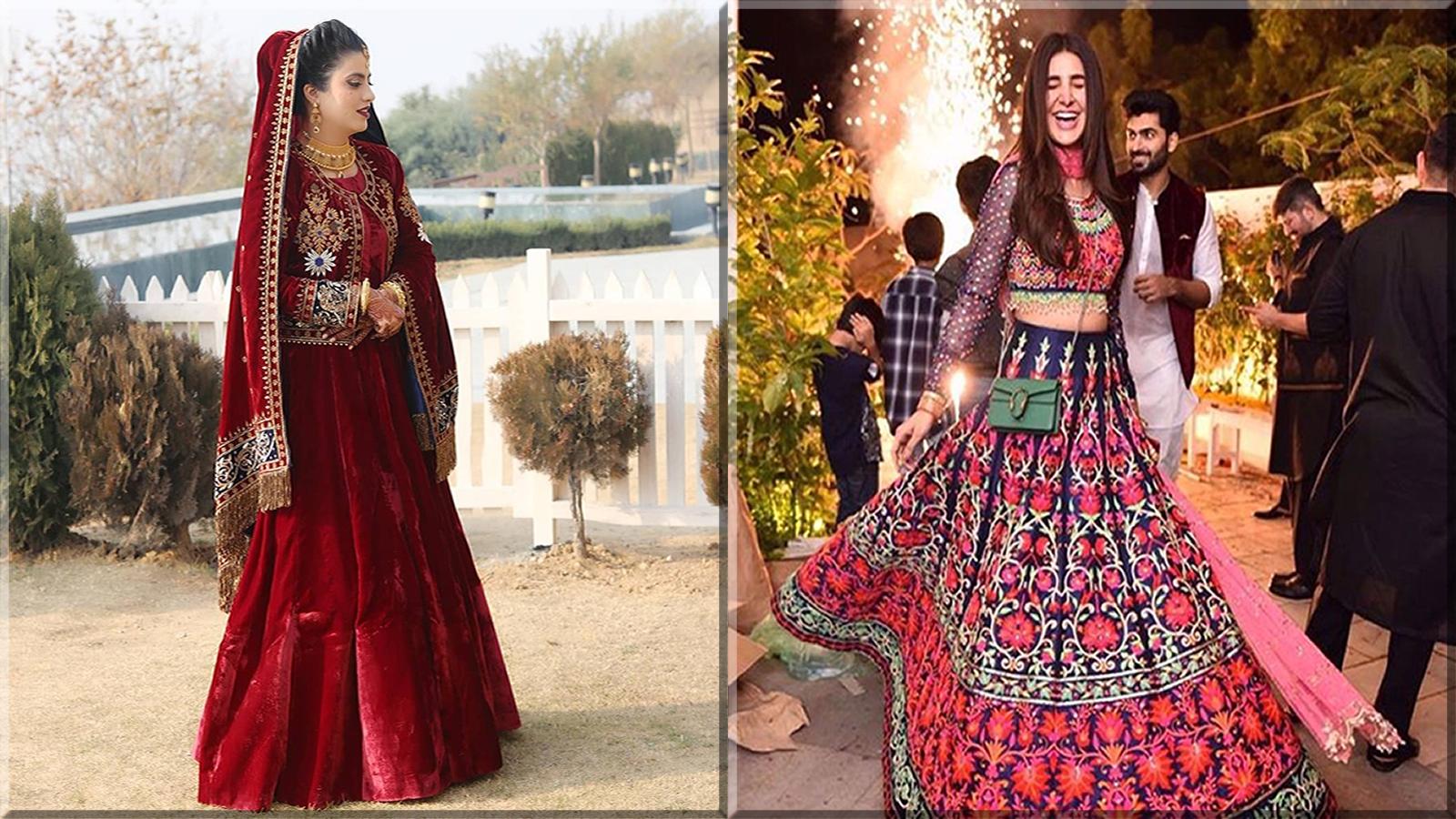 traditional bridal wear kashmiri wedding dress
