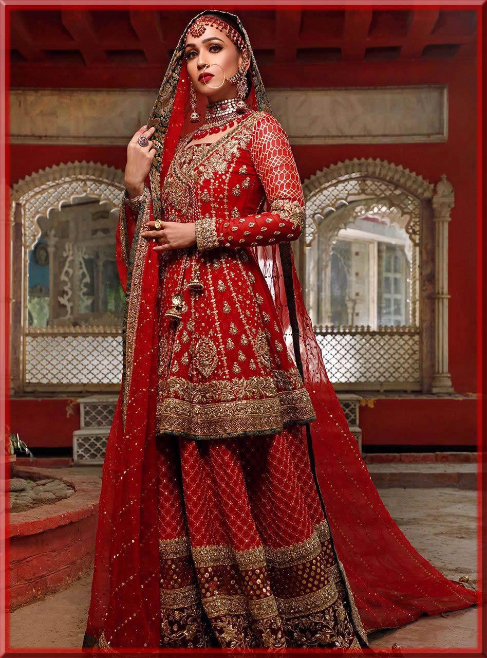 tradional red lehenga for bride