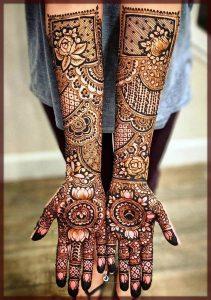 full hands bride mehndi designs