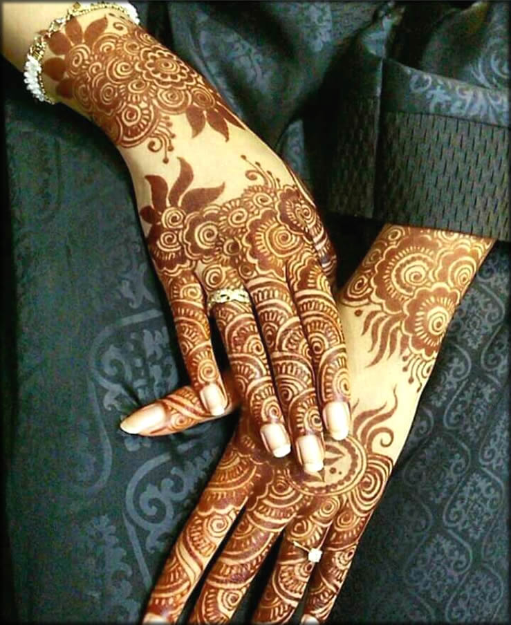 Arabic Hina Style For Your Hands