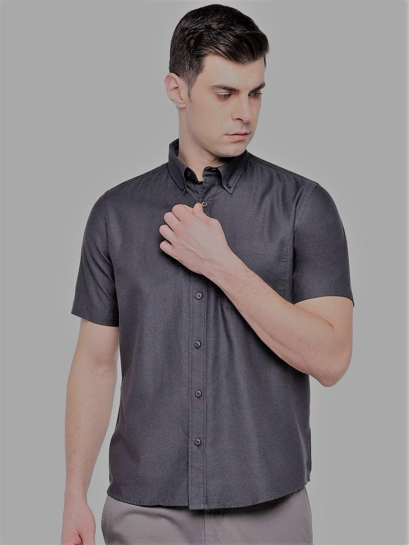 Black Regular Shirts For Men