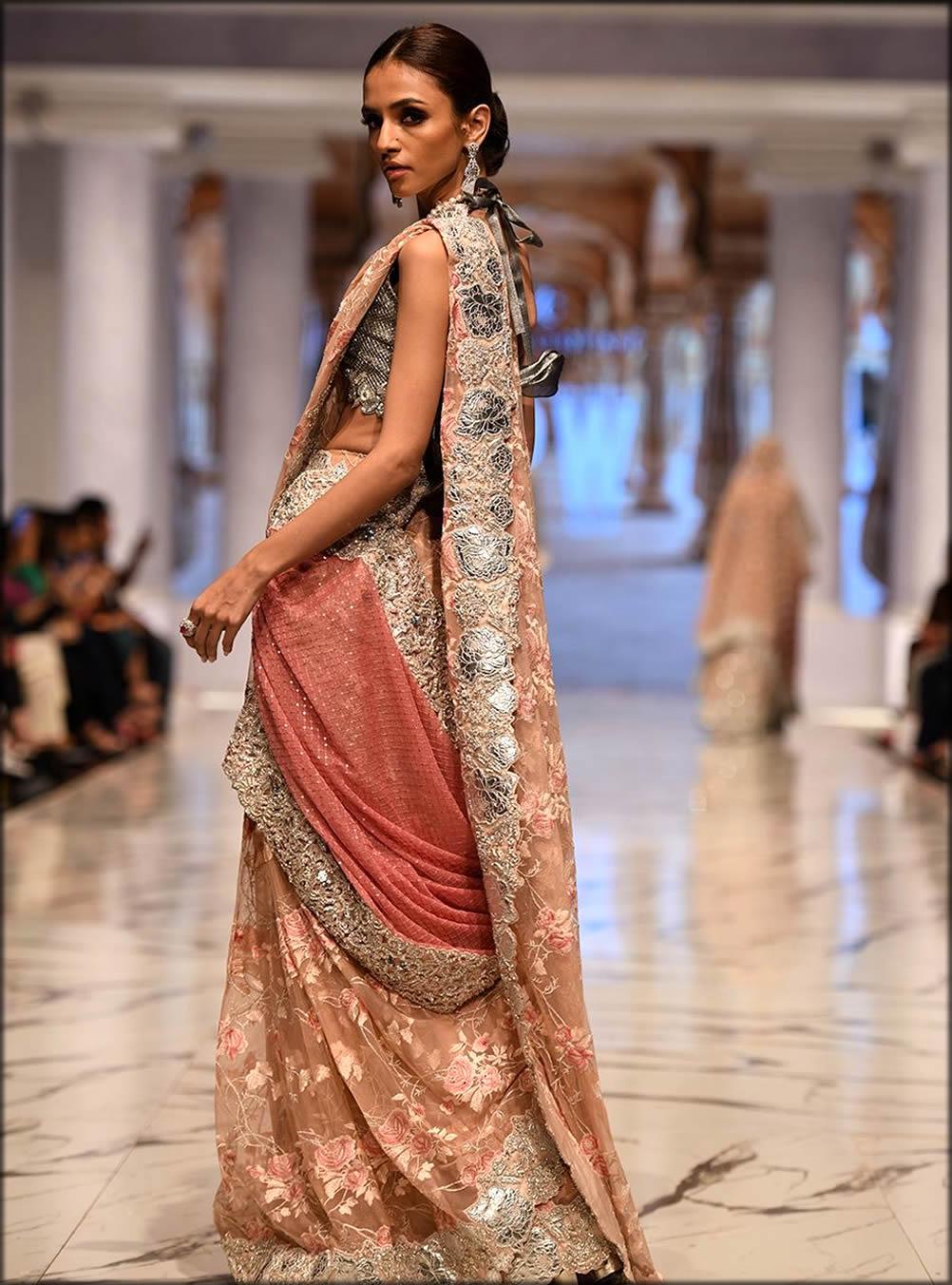 Blush Pink Sari By Zainab Chottani