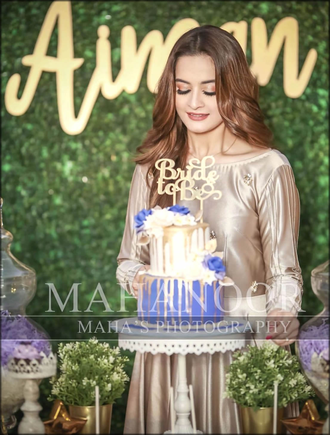 Bride to be With Cake