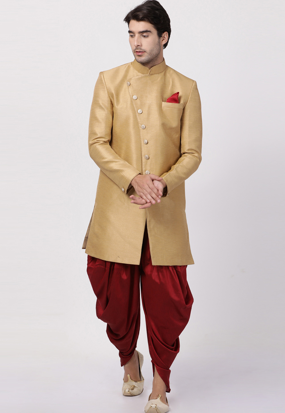 Cotton Engagement Indo Western Sherwani For Groom To Be