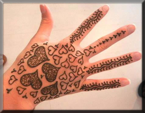 hearted henna art for your kids