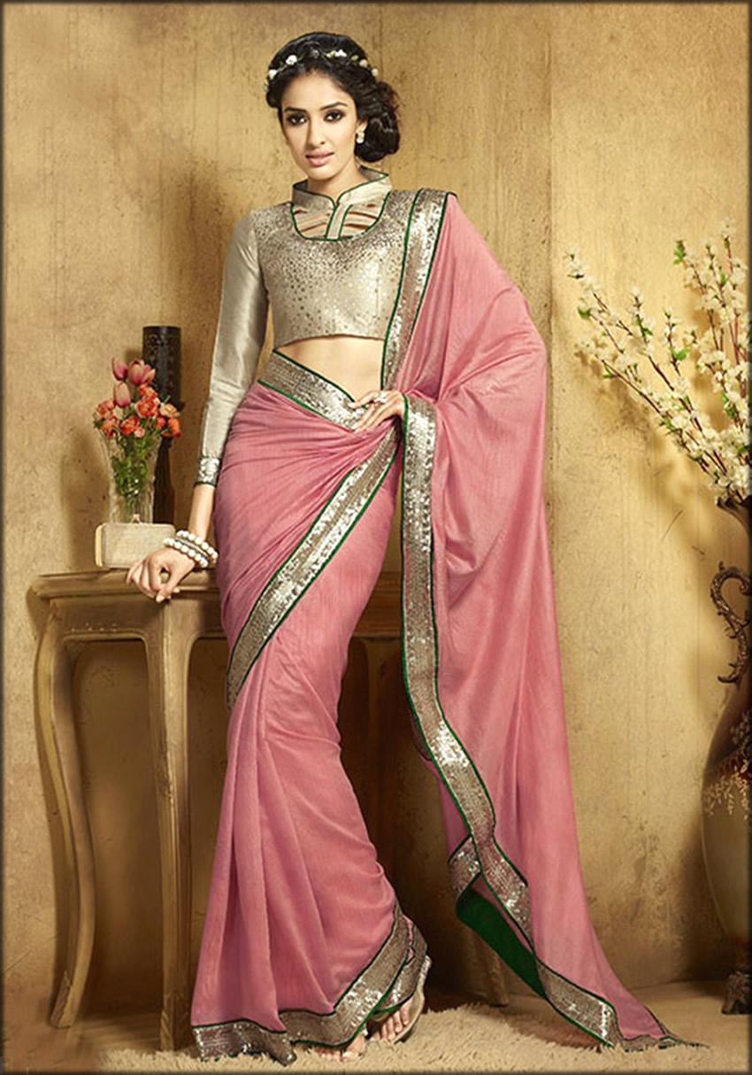 Designer Women Blouses Collection With Peach Saree
