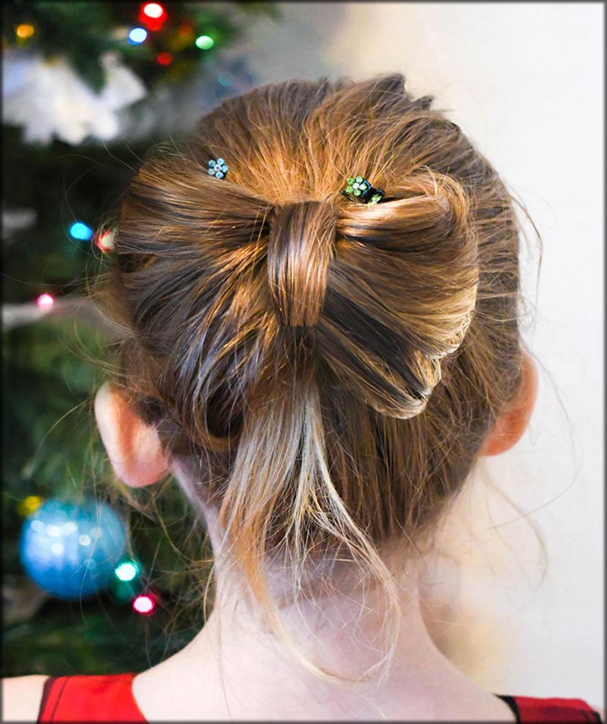 Diy Bow Hair Style For Girls