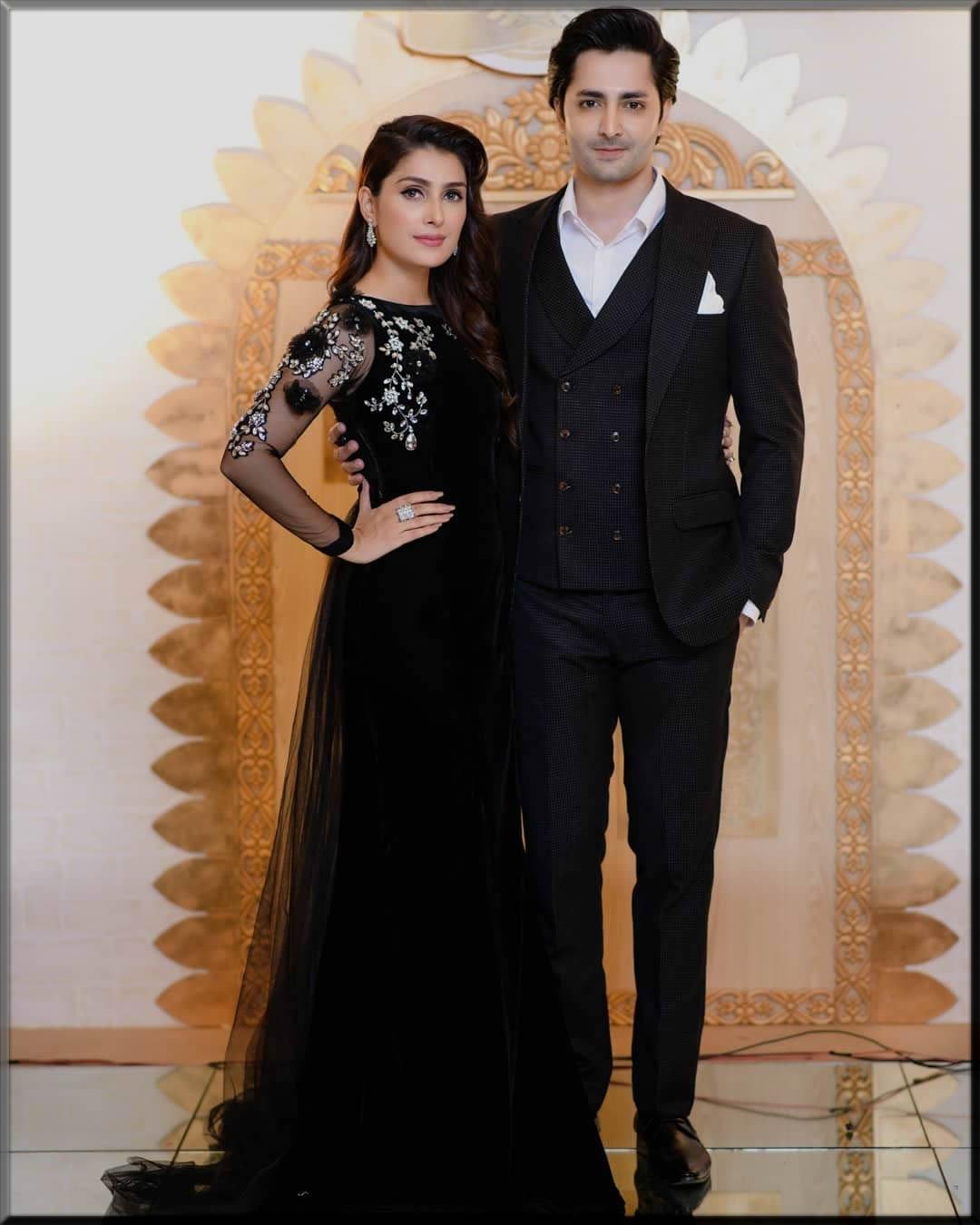 ayeza and danish in black