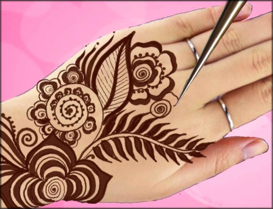 Easy and Floral Arabic Mehndi Designs