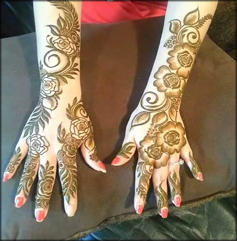 Eid Mehandi Designs For Full Hands