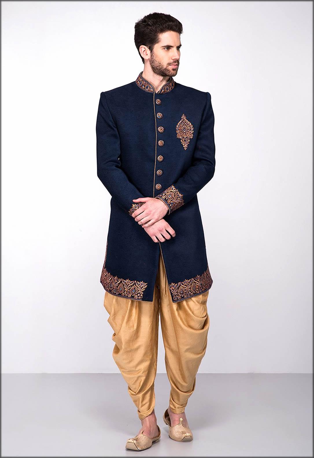Elegant Men Sherwani Engagement Dress
